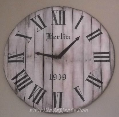 Hand Made Custom Made Oversized Pallet Clocks 3ft Plus
