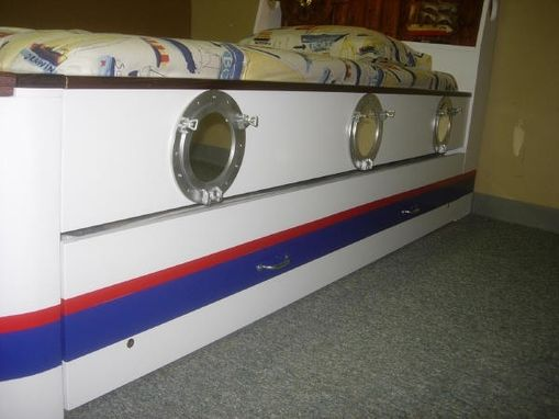 Custom Made Boat Bed Two Color Stripe