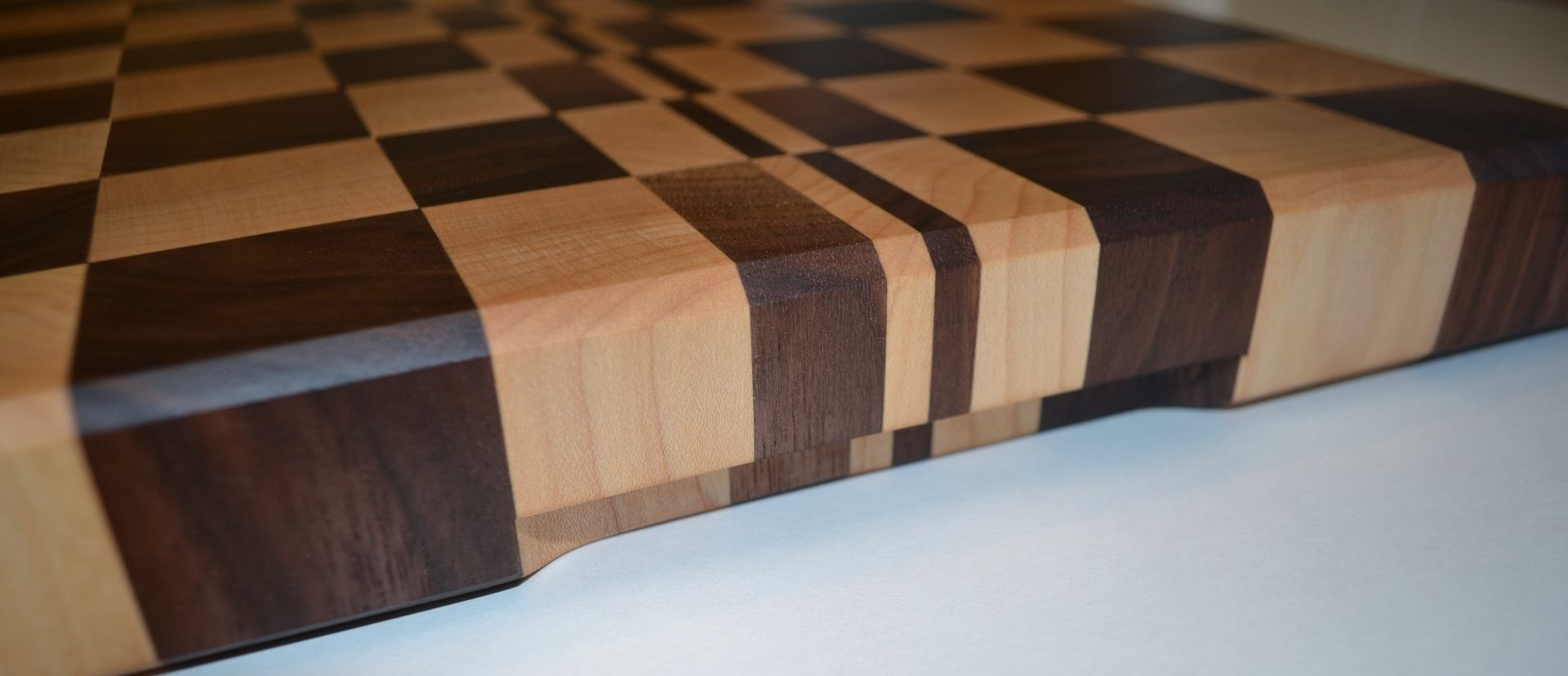 hand made walnut and maple end grain cutting board by fine, Kitchen design