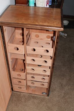 Custom Made Large Cabinet Humidor - Cherry / Walnut / Spanish Cedar