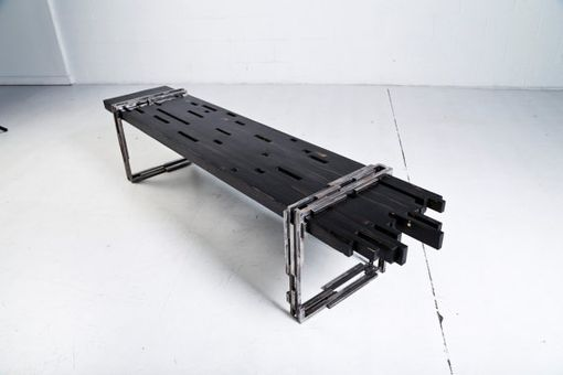 Custom Made Industrial Modern Bench