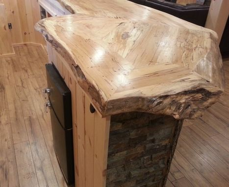 Custom Made Live Edge Spalted Maple Bar Counter