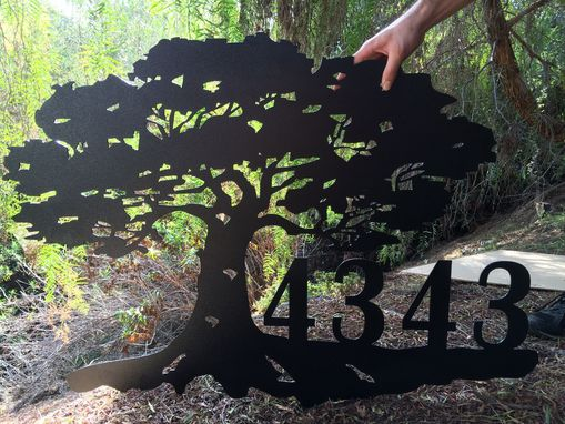 Custom Made Address Plaque Metal Extra Large Sign Iron Garden Art Gates Fences Tree