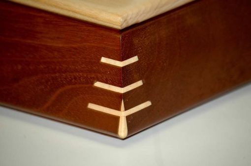 Custom Made Mahogany Tapered Box