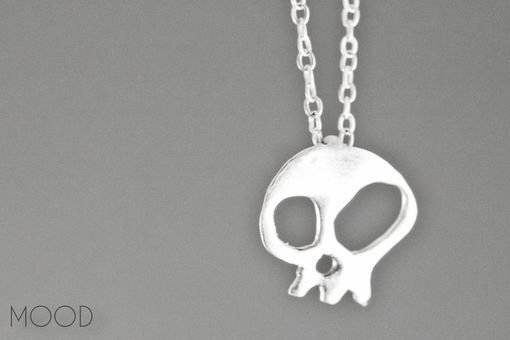Custom Made Skully - Hand Forged Argentium Sterling Silver Necklace