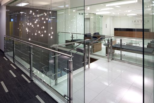 Custom Made Stainless Steel And Glass Stair Rail System