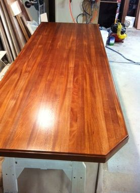 Custom Made African Mahogany Kitchen Island