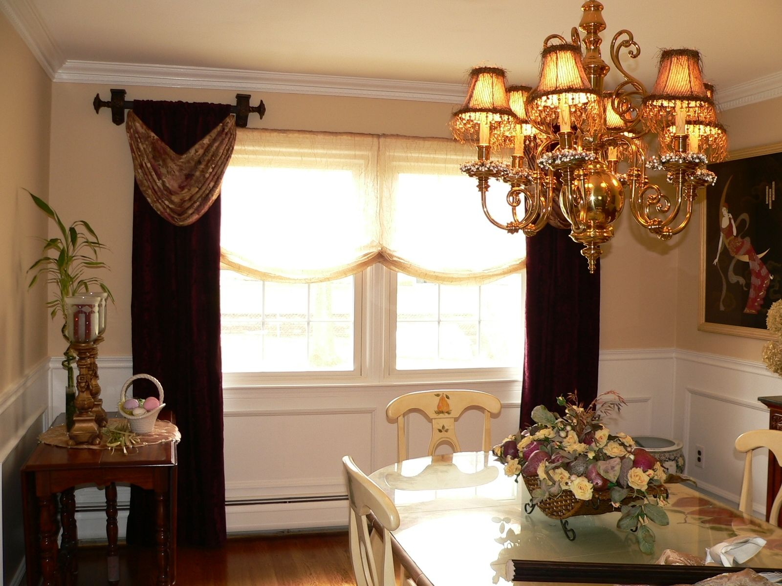 Custom Made Open Swags And Panel Window Treatments By Caty