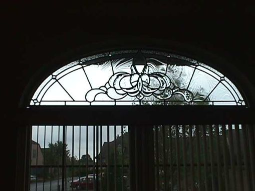 Custom Made Leaded Glass Transom In Zinc Came