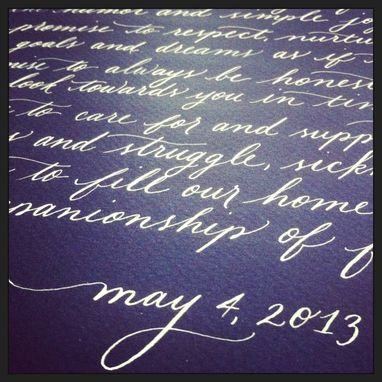 Custom Made Custom Calligraphy Poem Or Vows