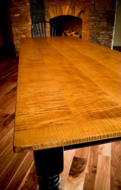 Custom Made 10' Tiger Maple Dining Table