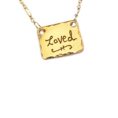 Custom Made Personalized Engraved Charm Necklace