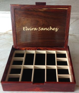 Custom Made Jewelry Box With Photo Inlay