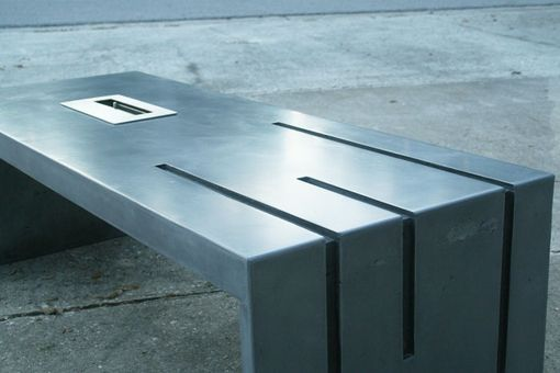 Custom Made Monolithic Concrete Fire Table