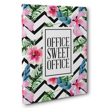 Custom Made Tropical Office Sweet Office Canvas Wall Art