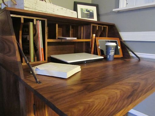 Custom Made Black Walnut Drop Front Secretary Desk