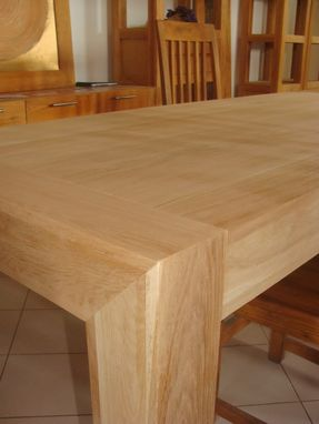 Custom Made Solid Oak Or Walnut Extendable Dining Table