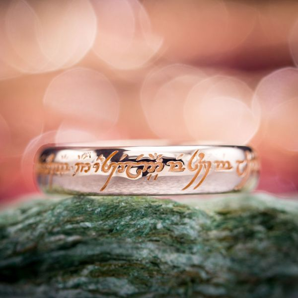 Depths Of The Fiery Pits Mordor We Found That One Ring Had Lost Its Original Engraving So Replaced It With This Personal Elvish Inscription