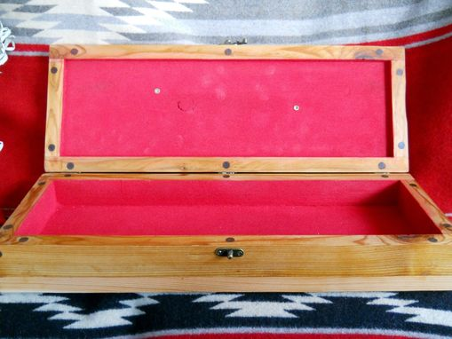 Custom Made Cedar Box With Deer Antler Handle