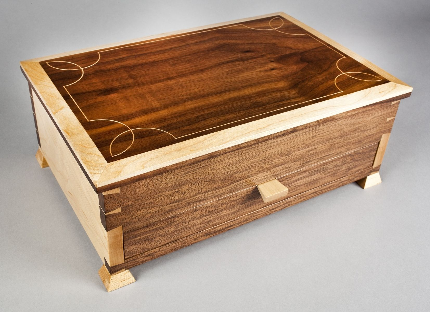 Handmade elegant jewelry box by e n curtis woodworks for Handmade wooden jewelry box