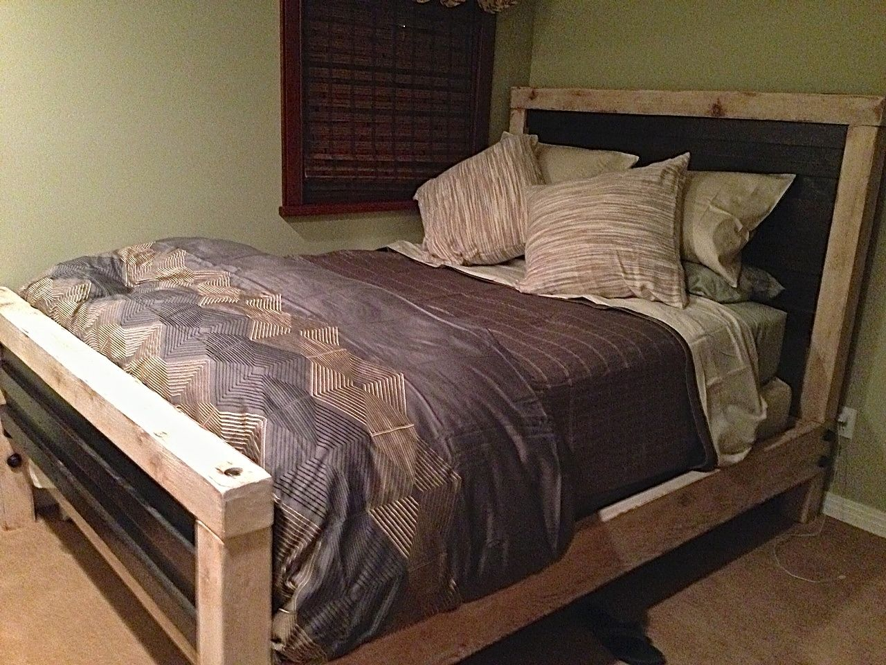 Hand Crafted Rustic Industrial Bed Queen By