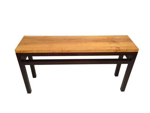 entry hall tables hand crafted modern entry hall table with a rustic look maple
