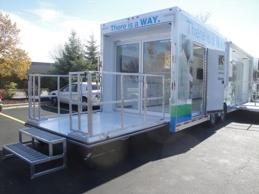 Custom Made Mobile Marketing Stage Trailer