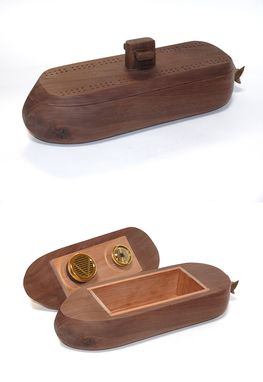 Custom Made Submarine Humidor Cribbage Board