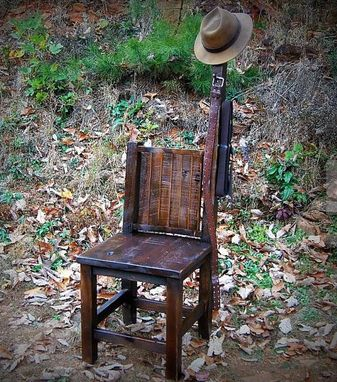 Custom Made Wood Dressing Chair - Gentleman's Chair