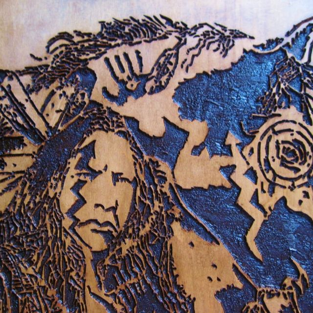 Hand Crafted Native American Indian Handmade Wood Carving Wall Art ...