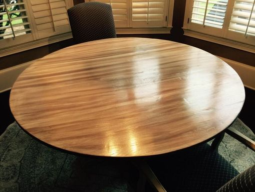 "Custom Made 60"" Round Oak Table"