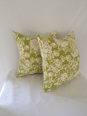 Custom Made Biko Leaf Green And White Cotton Pillow Cover