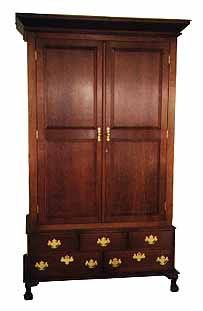 Custom Made Chippendale Wardrobe