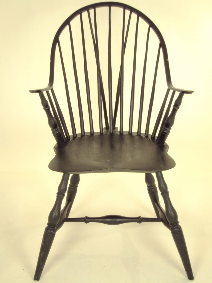 Custom Made Continuos Arm Brace Back Windsor Chair By Wood
