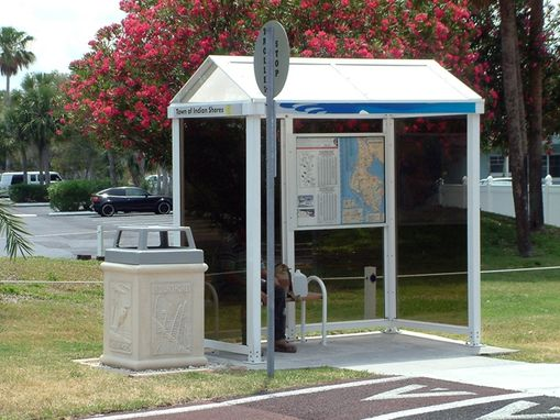 Custom Made Indian Shores Bus Stop Recycle Bins