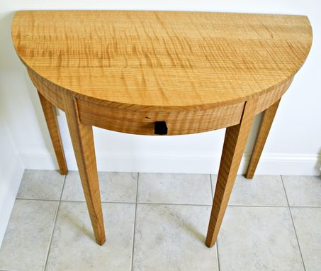 Custom Made Curly Oak Entry Table