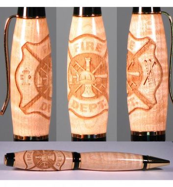 Custom Made Fire Fighter Laser Engraved Pen