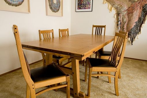 Custom Made Commissioned Oak Dining Room Set