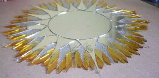 "Custom Made 24"" X 24"" Mosaic Mirror Sunburst Stained Glass"