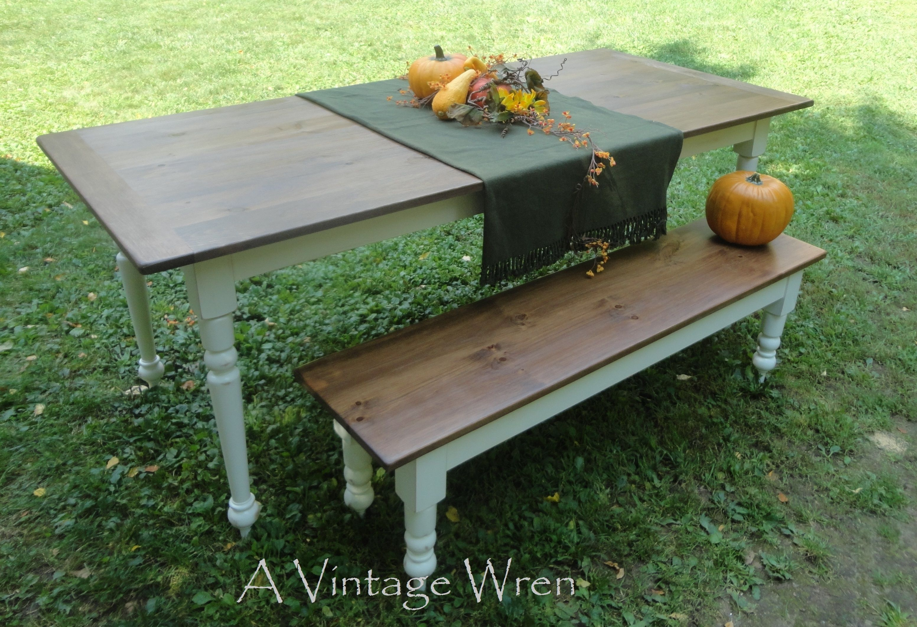Hand Made Farm Table/ Farmhouse Table/ Harvest Table