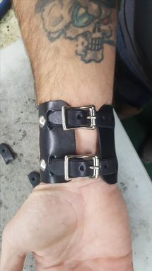 Custom Made Leather Cuff Wristbands