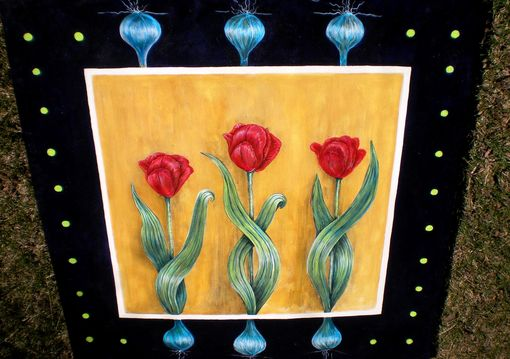 Custom Made Tulip Floor Mat