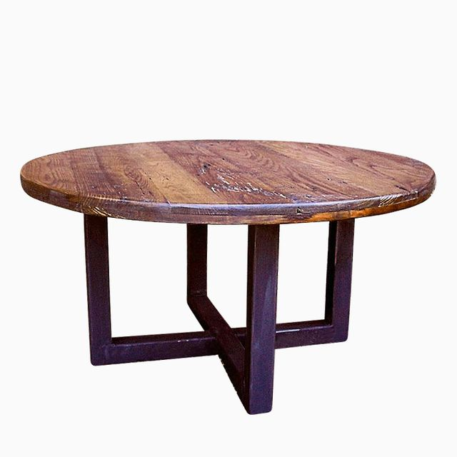 buy a custom made reclaimed wood wormy chestnut round coffee table