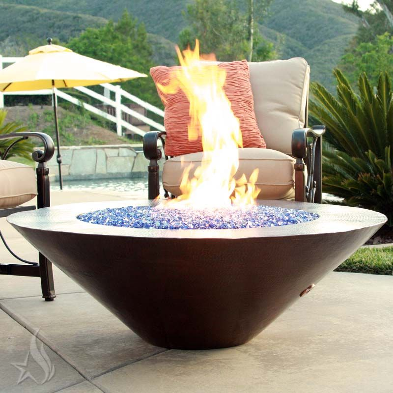 Custom Made 60 Inch Cono Moreno Hand Hammered Copper Fire Pit - Buy A Custom 60 Inch Cono Moreno Hand Hammered Copper Fire Pit, Made
