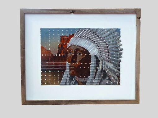 Custom Made Razor Bade Art Portrait Of Indian Chief