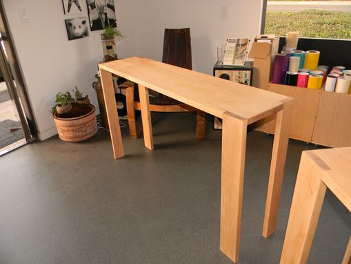 Custom Made Michael's Counter Height, Narrow Soft Maple Tables.