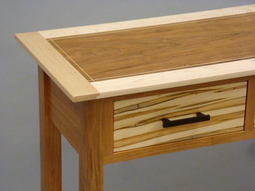 Custom Made Entry Table With Shelf And Three Drawers