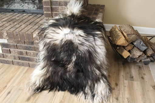 Custom Made Genuine Icelandic Sheepskin Rug Throw – Shade Of Black
