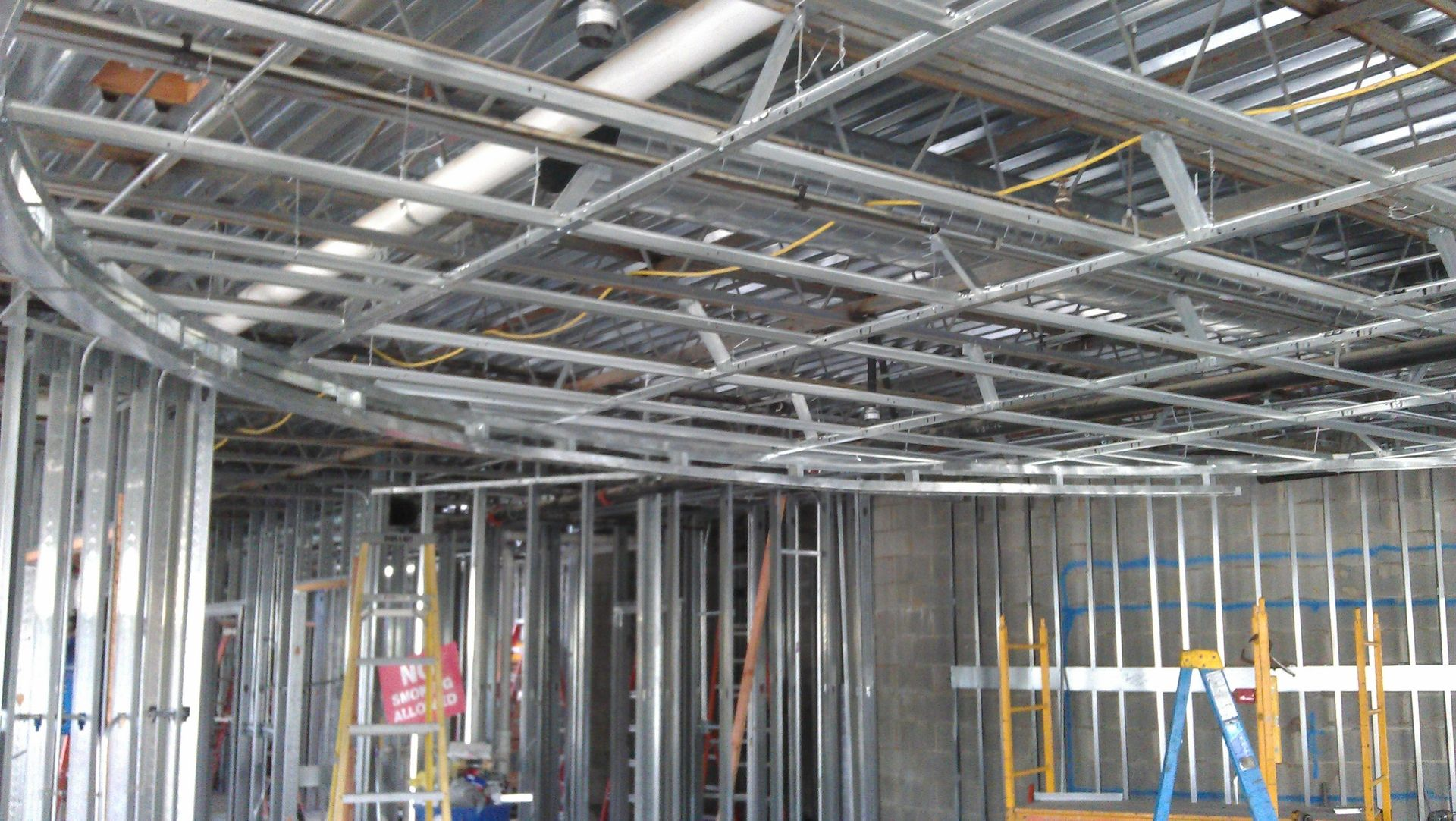Hand Crafted Commercial Build Out , Just Rough Framing And Backin ...