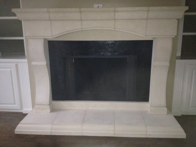 Handmade Cast Stone Fireplace Mantel Surround by Southern ...